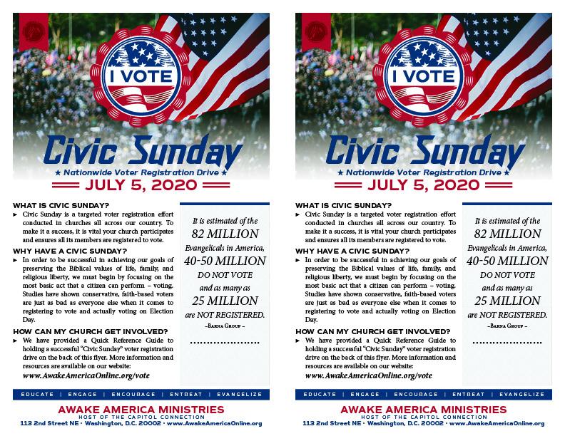 Civic Sunday Printable Flyer
